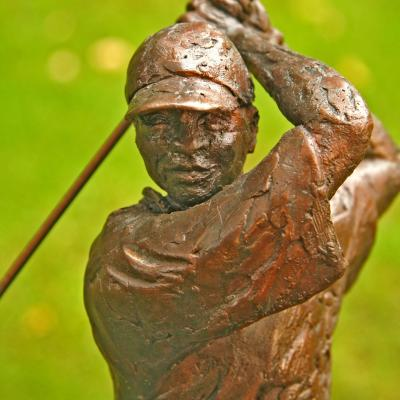 Sport Golfer Close Up